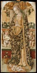 La Vierge adorant l'Enfant entre deux angelots musiciens (Crivelli Vittore) - Muzeo.com