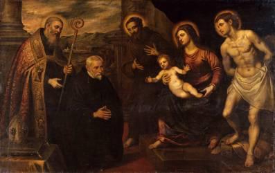 La Vierge entourée de saints et d'orants (Le Tintoret) - Muzeo.com