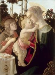 La Vierge et l'Enfant avec saint Jean-Baptiste enfant (Botticelli Sandro) - Muzeo.com