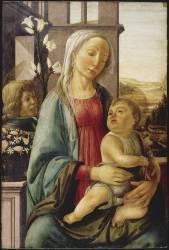 La Vierge et l'Enfant avec un ange (Botticelli Sandro (école de)) - Muzeo.com
