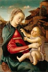 La Vierge et l'Enfant dite Madone des Guidi da Faenza (Botticelli Sandro) - Muzeo.com