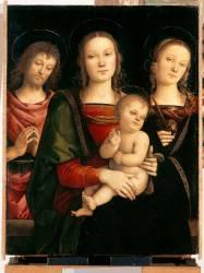 La Vierge et l'Enfant entourés de saint Jean-Baptiste et sainte Catherine (Pérugin (dit), Vannuci Pietro...) - Muzeo.com
