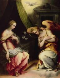 L'Annonciation (partie centrale d'un triptyque) (Vasari Giorgio) - Muzeo.com