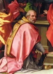 L'Assomption de Marie (détail montrant saint Nicolas de Myre) (Andrea del Sarto) - Muzeo.com