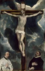 Le Christ en croix adoré par deux donateurs (Le Greco (dit), Theotokopoulos...) - Muzeo.com