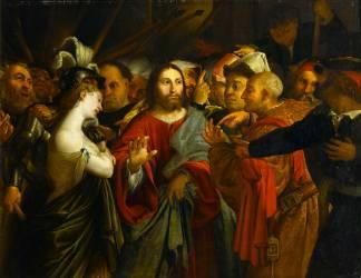 Le Christ et la femme adultère (Lorenzo Lotto) - Muzeo.com