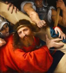 Le Christ portant sa croix (Lotto Lorenzo) - Muzeo.com