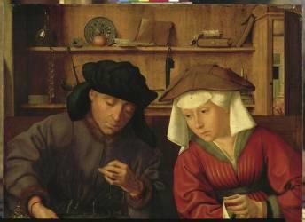 Le prêteur et sa femme (Metsys Quentin) - Muzeo.com