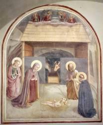 Les fresques de San Marco. La Nativité (Fra Angelico) - Muzeo.com
