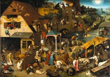 Les proverbes flamands (Jan Brueghel l'Ancien) - Muzeo.com