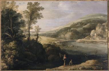 Paysage aux pêcheurs (Paul Bril) - Muzeo.com