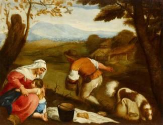 Paysage avec la famille du semeur (Anonyme) - Muzeo.com