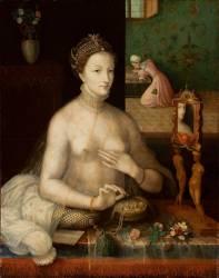 Portrait de dame a sa toilette (Anonyme) - Muzeo.com