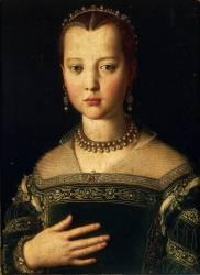 Portrait de Marie de Médicis (Bronzino (dit), Allori Agnolo...) - Muzeo.com
