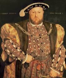 Portrait d'Henri VIII (1491-1547) âgé de 49 ans (Holbein Hans;le Jeune) - Muzeo.com