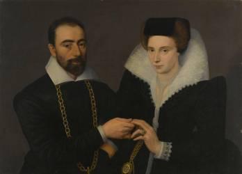 Portrait d'un couple (ou double portrait) (Anonyme) - Muzeo.com