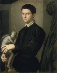 Portrait d'un sculpteur (Bronzino (dit), Allori Agnolo...) - Muzeo.com
