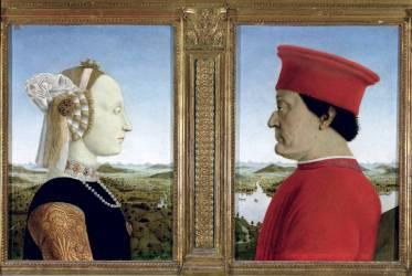 Portraits du Duc Federico III da Montefeltro et de la Duchesse Battista Sforza (Piero della Francesca) - Muzeo.com