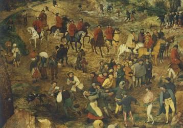 Procession au Calvaire (Brueghel Pieter le Vieux) - Muzeo.com
