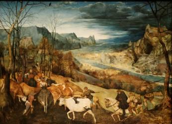 Retour du troupeau (Brueghel Pieter le Vieux) - Muzeo.com
