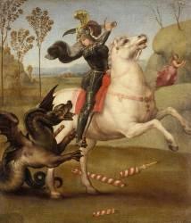 Saint Georges luttant avec le dragon (Raphaël) - Muzeo.com