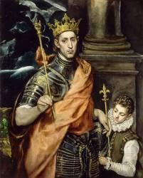 Saint Louis, roi de France et un page (Le Greco) - Muzeo.com