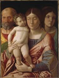 Sainte famille avec une sainte (Andrea Mantegna) - Muzeo.com
