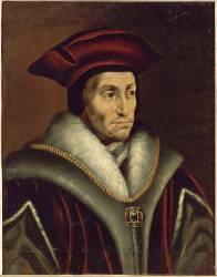 Thomas More, lord-chancelier d'Angleterre de 1529 à 1532 (1480-1535) (,D'après Holbein Hans, le...) - Muzeo.com