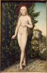 Vénus debout dans un paysage (Lucas Cranach l'Ancien) - Muzeo.com