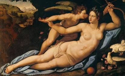 Vénus et Cupidon (Allori Alessandro) - Muzeo.com