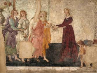 Vénus et les Grâces offrant des présents à une jeune fille (Sandro Botticelli) - Muzeo.com