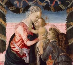 Vierge à l'Enfant soutenu par un ange (Sandro Botticelli) - Muzeo.com