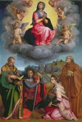 Vierge en gloire avec quatre saints (Andrea del Sarto) - Muzeo.com