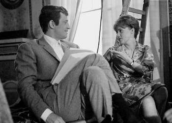 Jean paul Belmondo et jeanne Moreau au Negresco à Nice (Gérald Bloncourt) - Muzeo.com