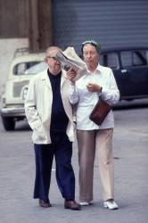 Jean-Paul Sartre et Simone de Beauvoir à Rome (François Lochon) - Muzeo.com
