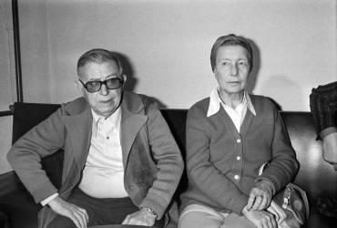 Jean-Paul Sartre et Simone de Beauvoir (Keystone) - Muzeo.com