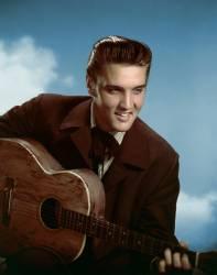 Portrait du comedien et chanteur americain Elvis Presley (1935-1977) dans le film