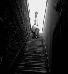 Près des quais de la Seine - Paris-1955 (Gérald Bloncourt) - Muzeo.com