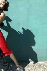 Argentine, Buenos Aires, La Boca quarter, couple dansant un tango (Aneglo Cavalli) - Muzeo.com