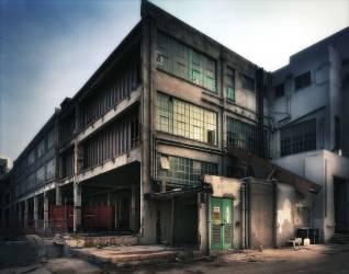 Chantier de construction et bâtiment abandonné (Julian Calverley) - Muzeo.com