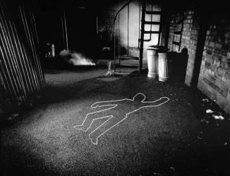 Contours d'un corps, scène du crime (George Logan) - Muzeo.com