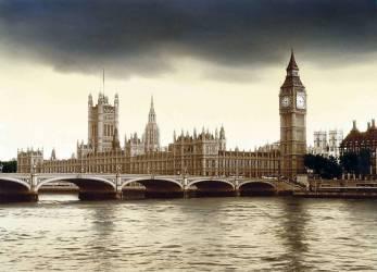 E. George, Une patience d'ange, Chambres du Parlement à Londres, Grande-Bretagne (Heinz Wohner) - Muzeo.com