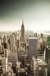 États-Unis, État de New York, Manhattan, New York City, l'Empire State Building, Midtown, paysage urbain de Top of the Rock au Rockefeller Center (Antonino Bartuccio) - Muzeo.com