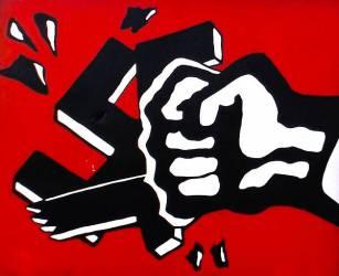 Graffiti Anti-Nazi à Oslo (Norvège) (Anonyme) - Muzeo.com
