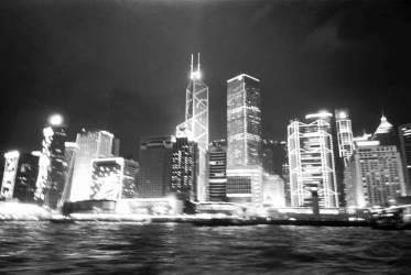Hong Kong de nuit, Chine (Anonyme) - Muzeo.com