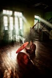 Moine lisant dans un monastère de Birmanie (Scott Stulberg) - Muzeo.com