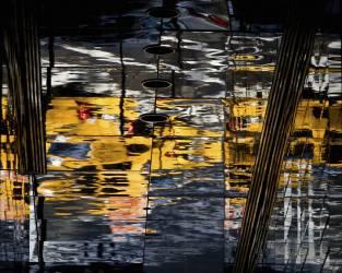 New York - Etats Unis, jeu de miroir sur les immeubles quartier de la 57ème rue (Setboun Michel) - Muzeo.com