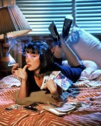 Uma Thurman / Pulp Fiction 1994 réalisé par Quentin Tarantino (Anonyme) - Muzeo.com