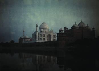 Vue du Taj Mahal au bord de la rivière Yamuna (Jules Gervais-Courtellemont) - Muzeo.com