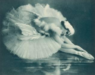 Anna Pavlova (1881-1931) russe danseuse de ballet photographiée à Swan Lake en 1920 (anonyme) - Muzeo.com